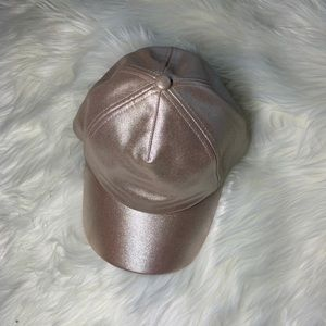 Rose gold Guess baseball cap